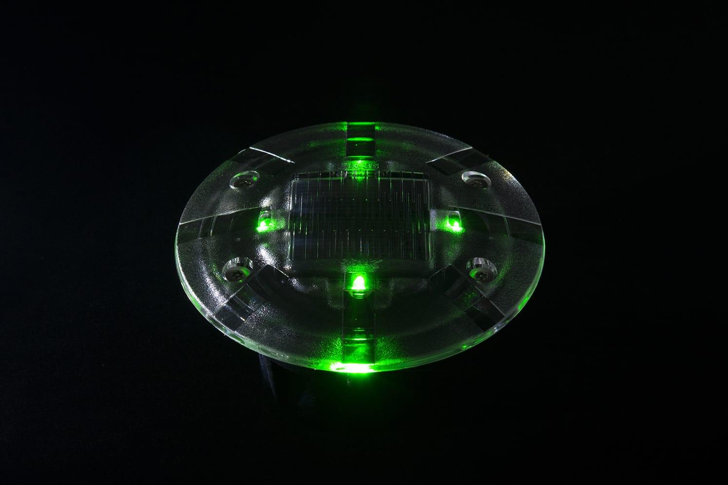 Plot LED solaire pietons velos ECO-35 vert