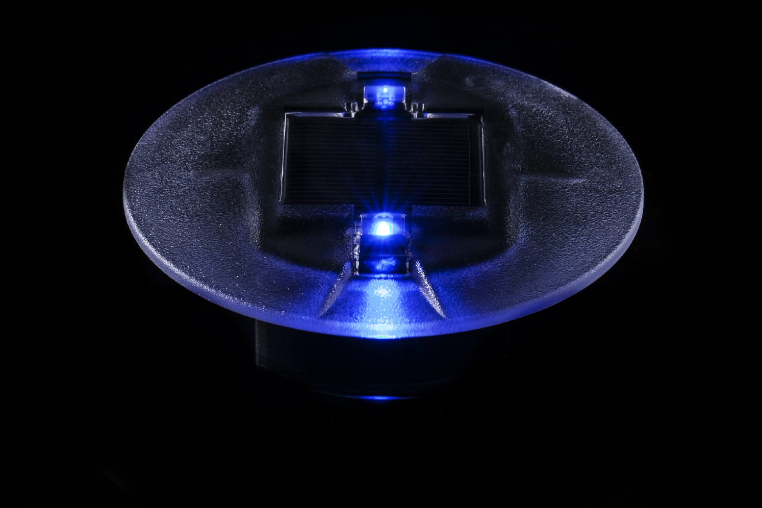 Plot solaire LED encastré ECO-40 bleu