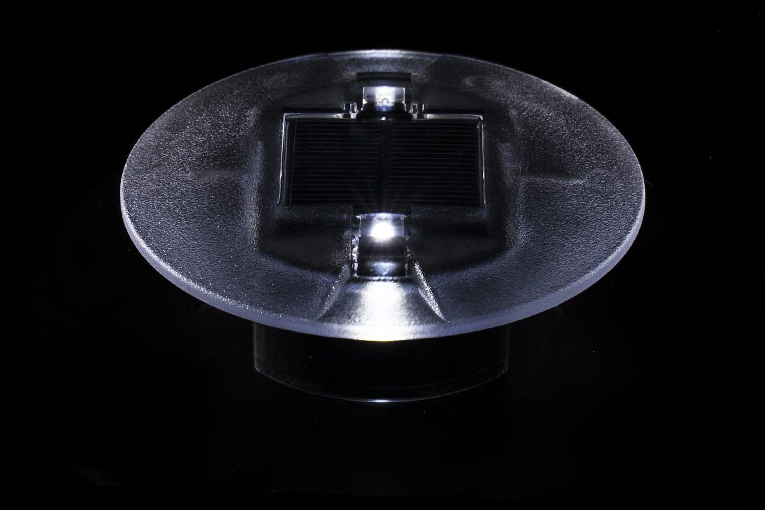 Plot solaire LED encastré ECO-40 blanc