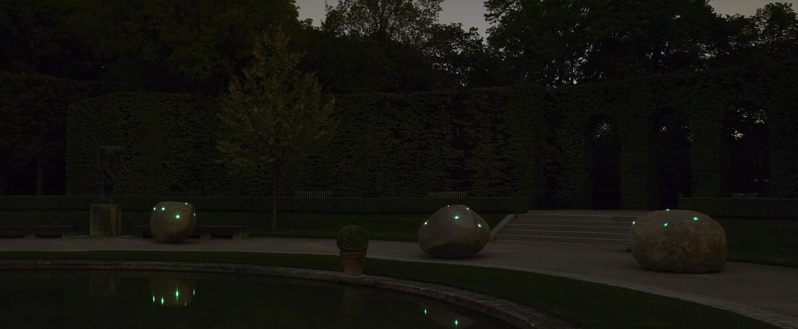 Illumination LED jardin du Musée Rodin balise solaire ECO-84 Eco-Innov