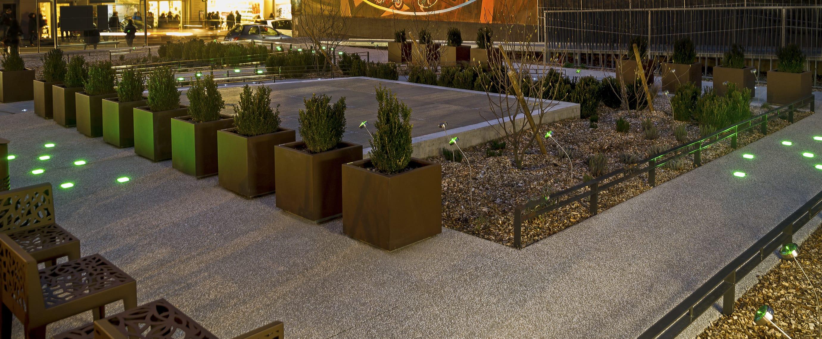 Pavé lumineux LED square urbain avec ECO-STONE99 Eco-Innov