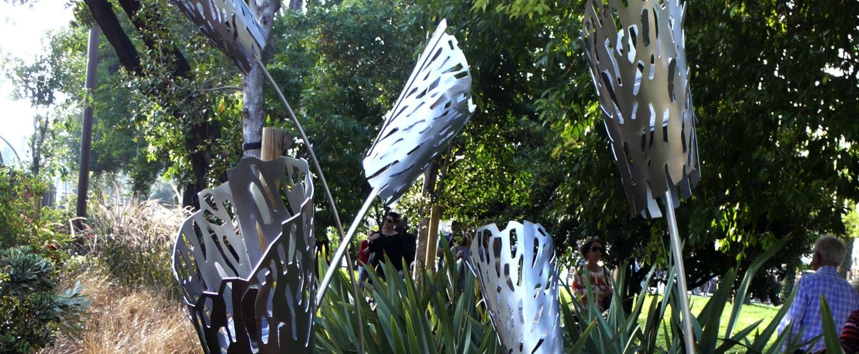 Promenade piétonne : sculpture solaire