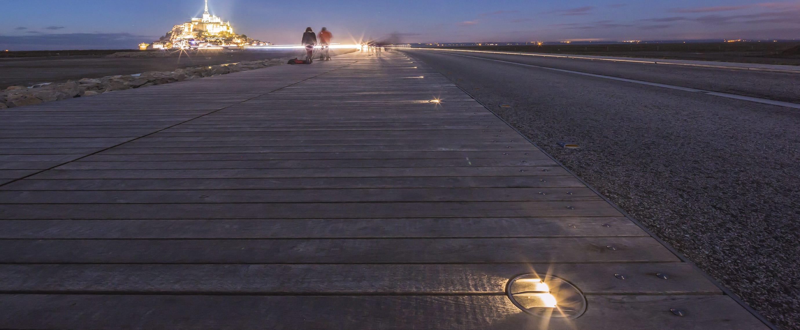 Signalisation LED de sécurité du Mont Saint Michel : ECO-845 Eco-Innov