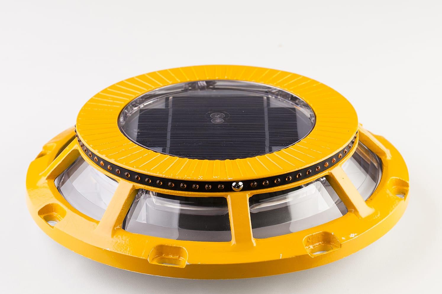 Balise solaire LED cligotant pour bordure, giratoire ECO-250