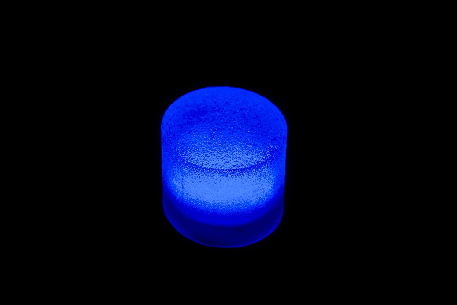 Pavé LED rond étanche pour place, chemin, terrasse, jardin ECO-STONE 80 bleu