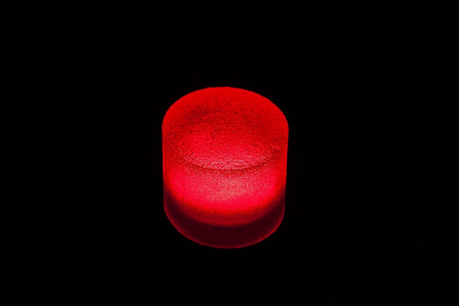 Pavé LED rond étanche pour place, chemin, terrasse, jardin ECO-STONE 80 rouge