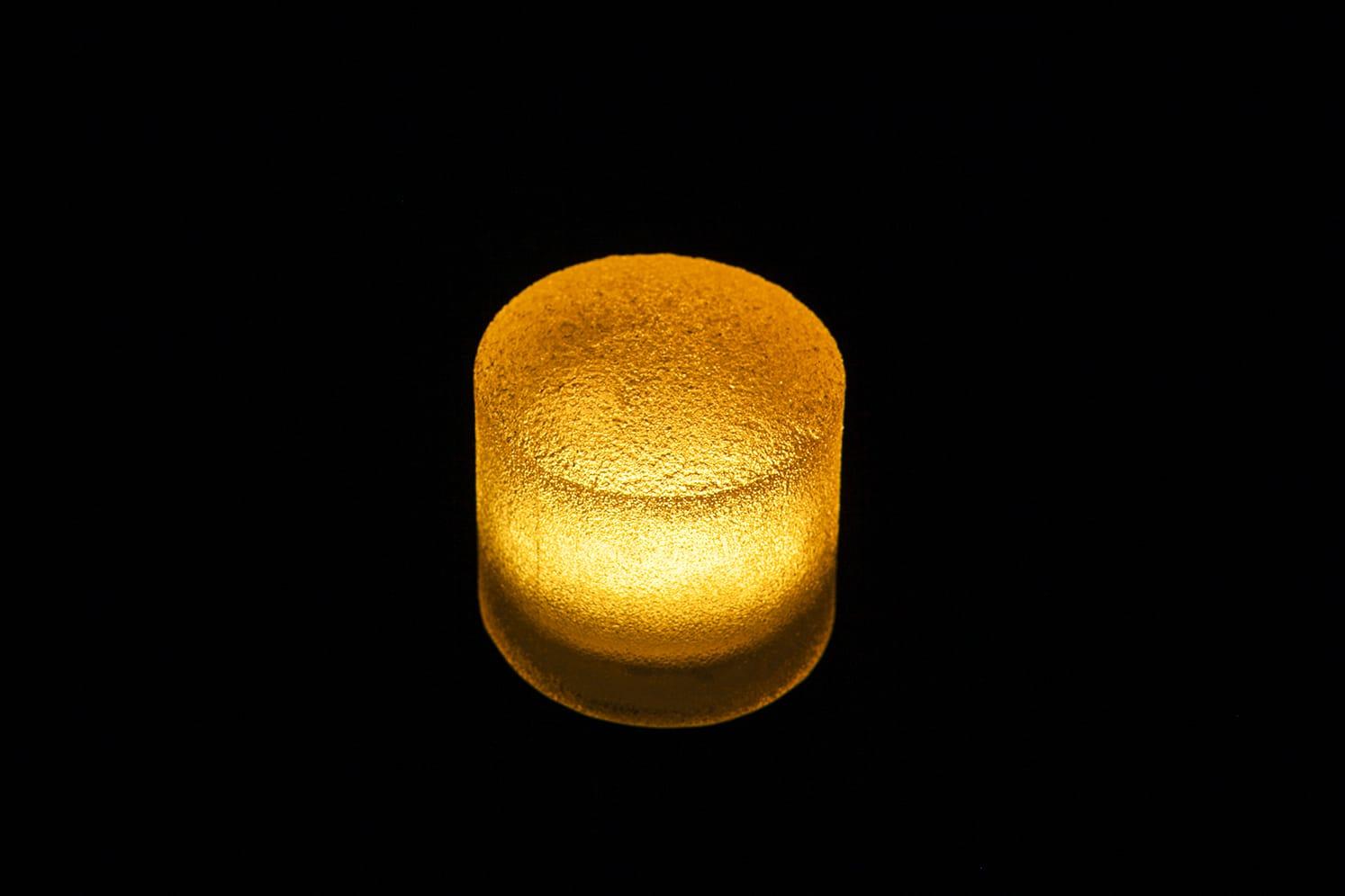 Pavé LED rond étanche pour place, chemin, terrasse, jardin ECO-STONE 80 ambre