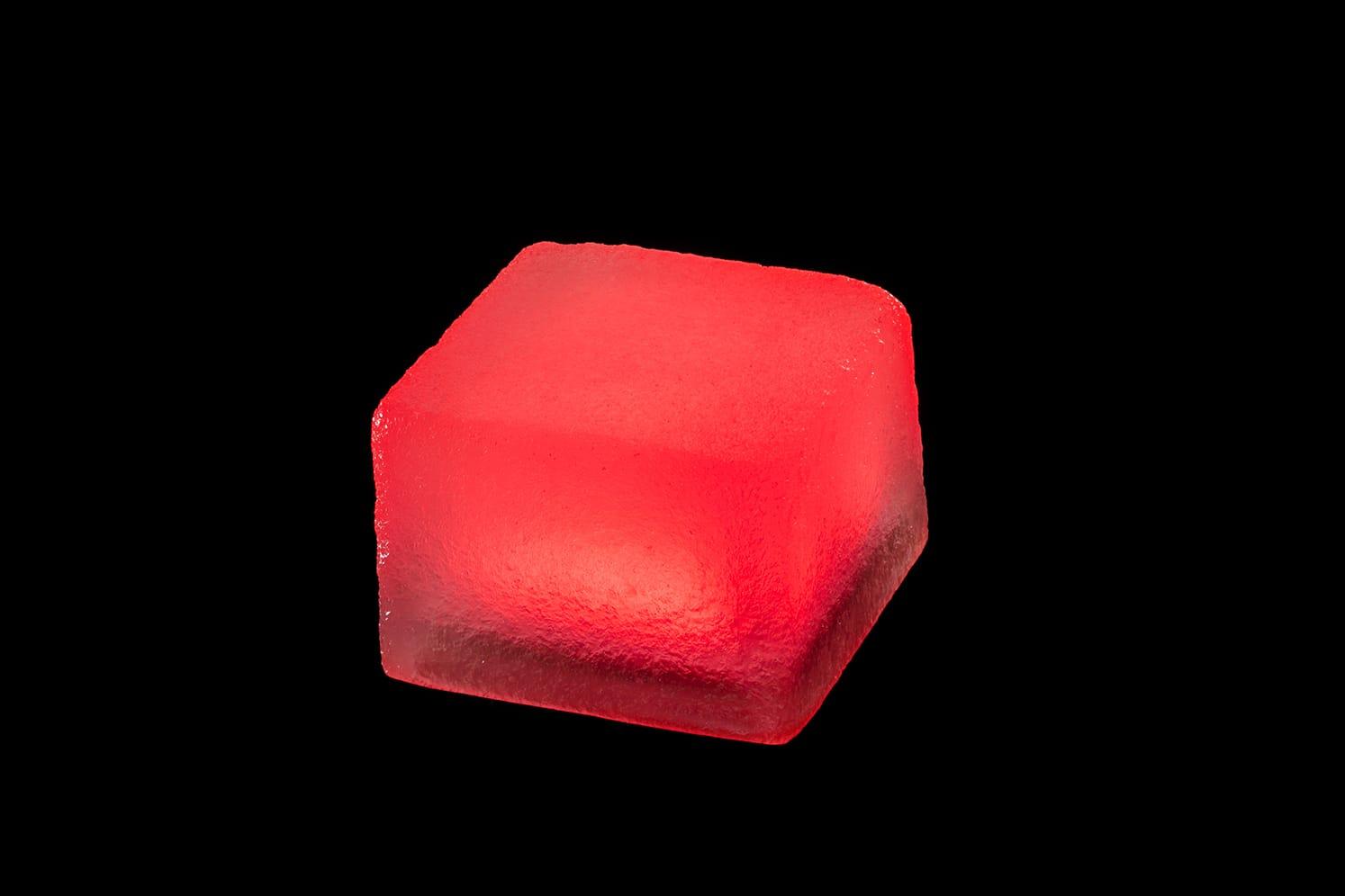 Pavé lumineux multicolore carré 100x100 : ECO-STONE99 rouge