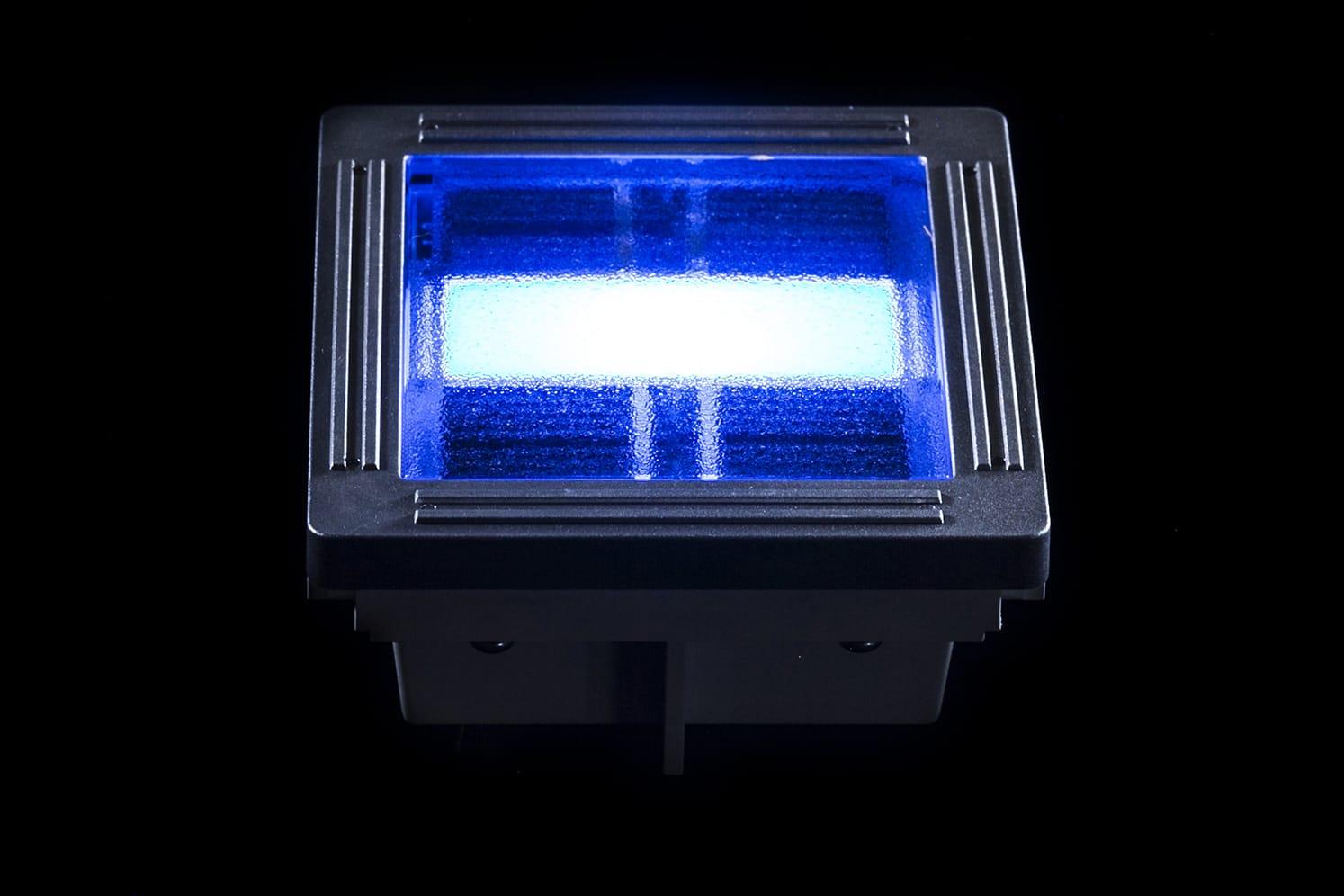 Pavé solaire décoratif ECO-100 bleu
