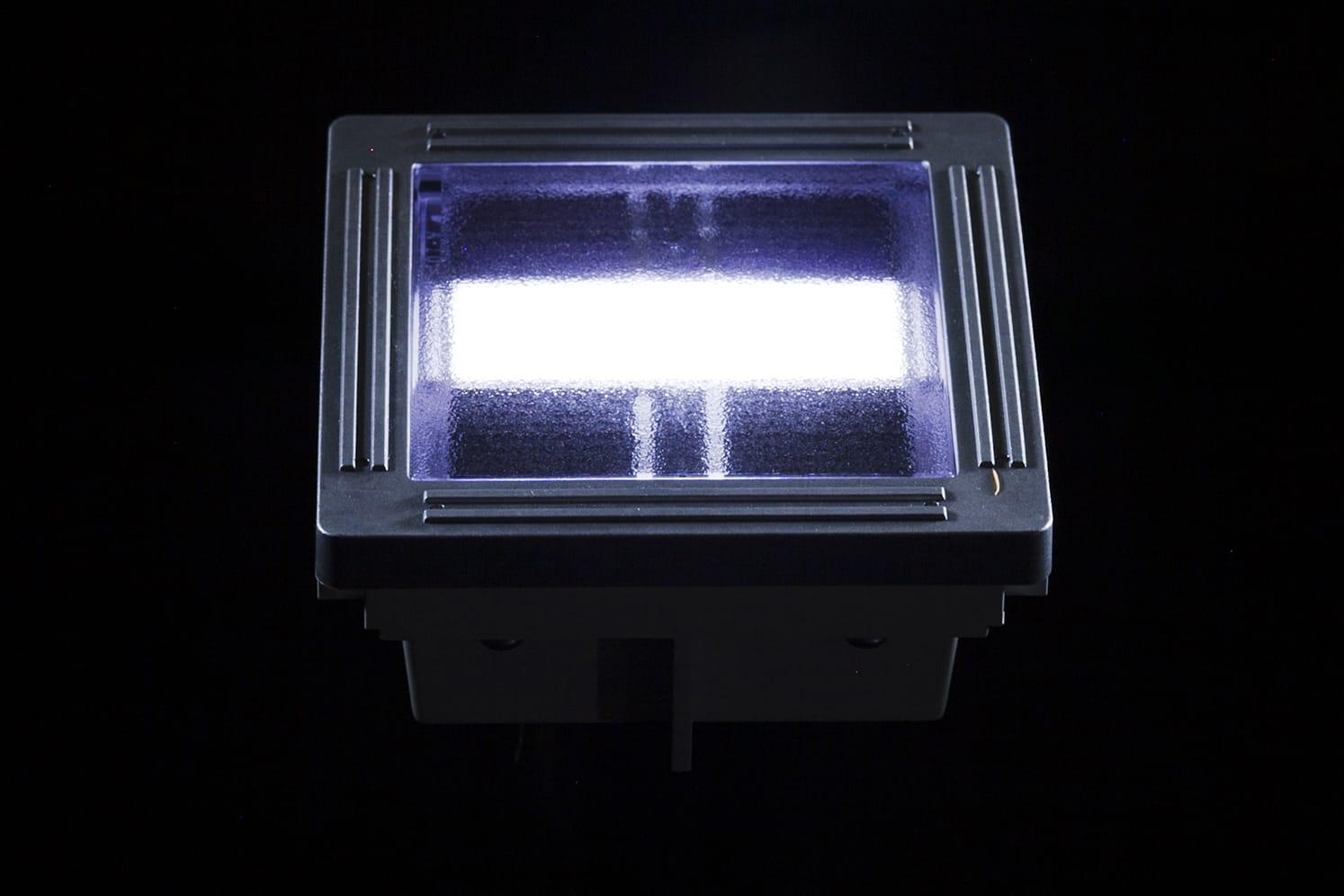 Pavé solaire décoratif ECO-100 blanc