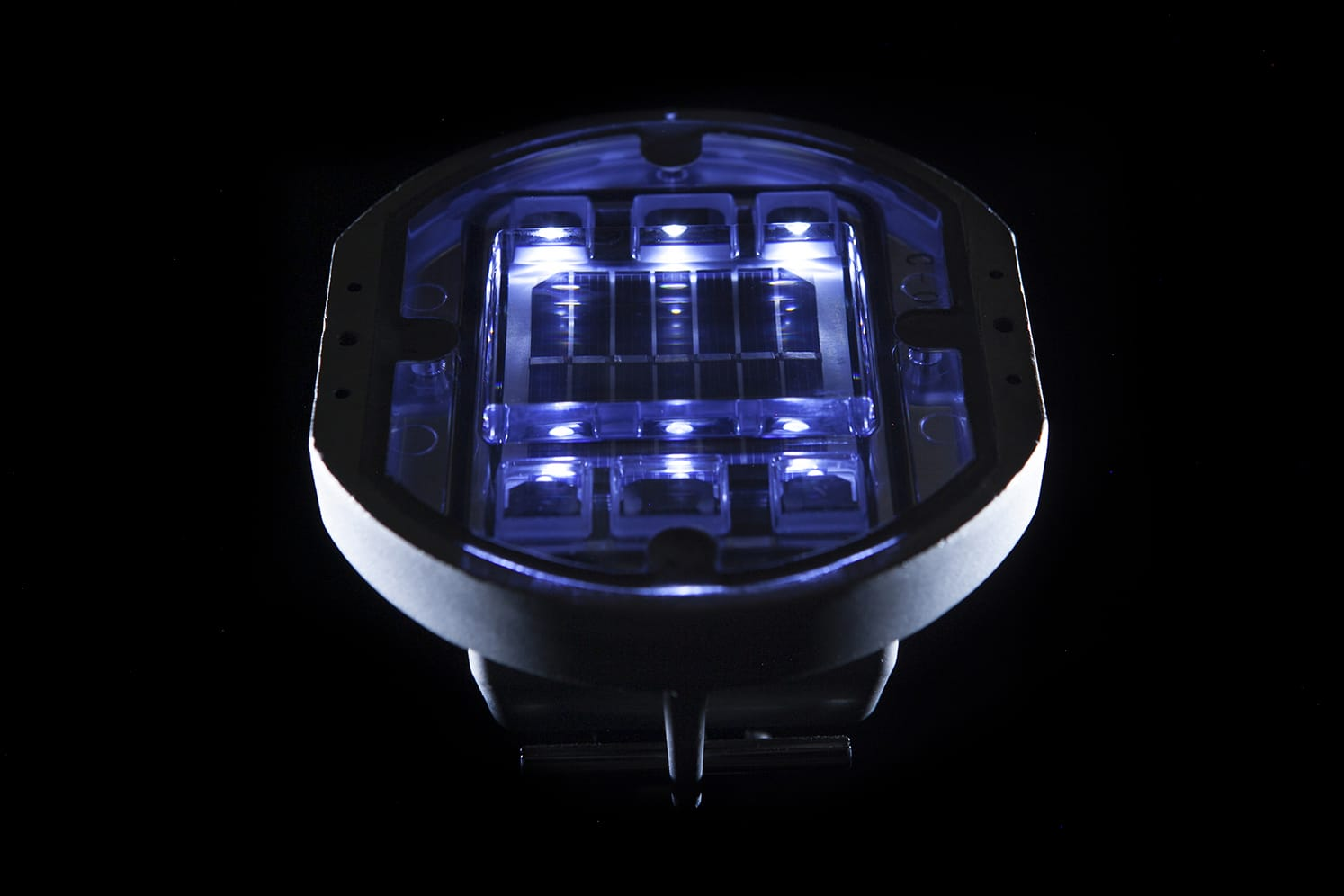 Plot solaire routier giratoire ECO-142 bleu