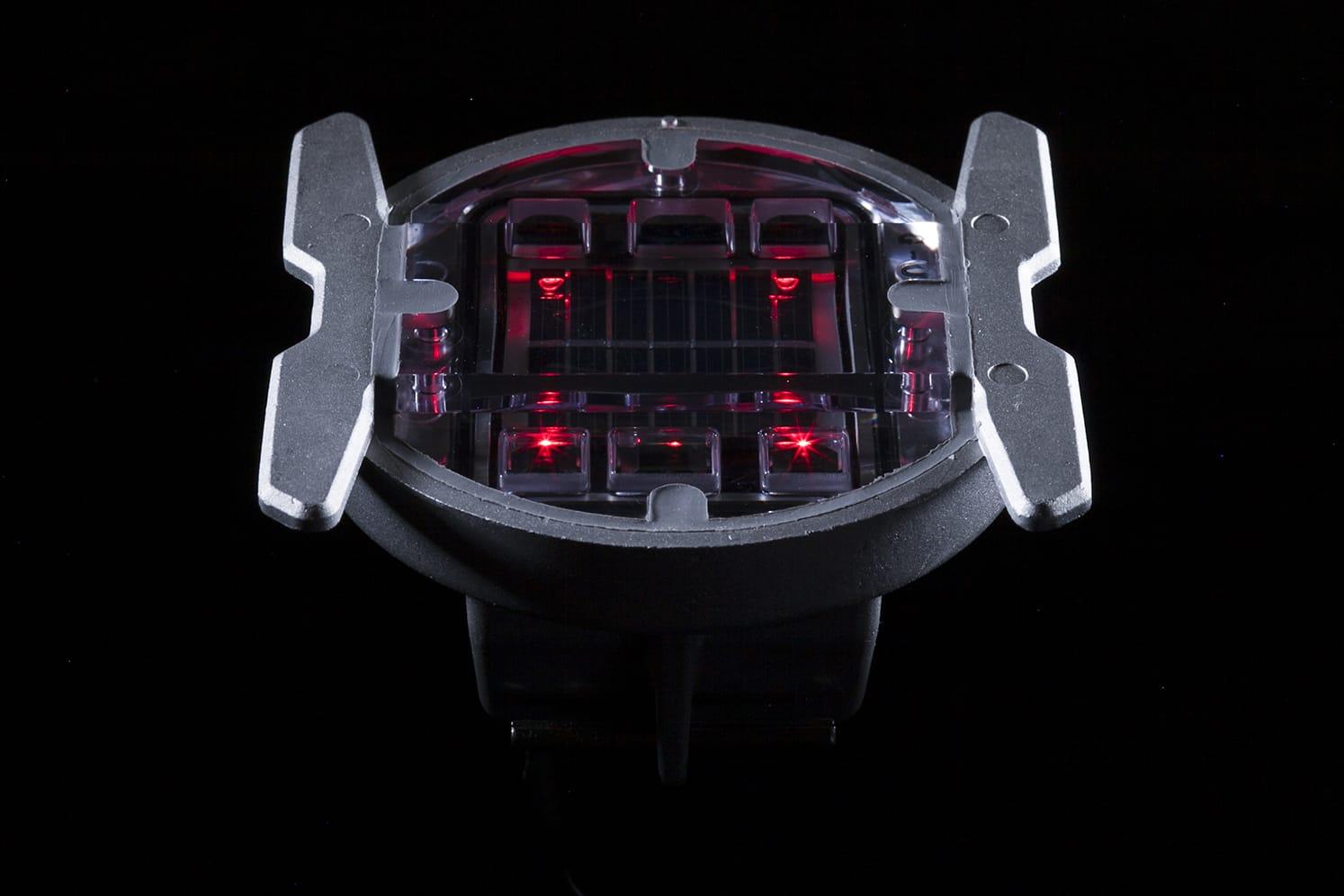 Plot solaire routier giratoire ECO-142 rouge