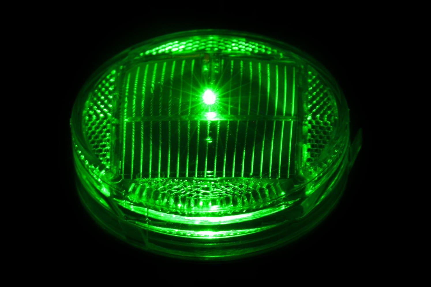 Plot LED balisage solaire vertical ECO-84 vert