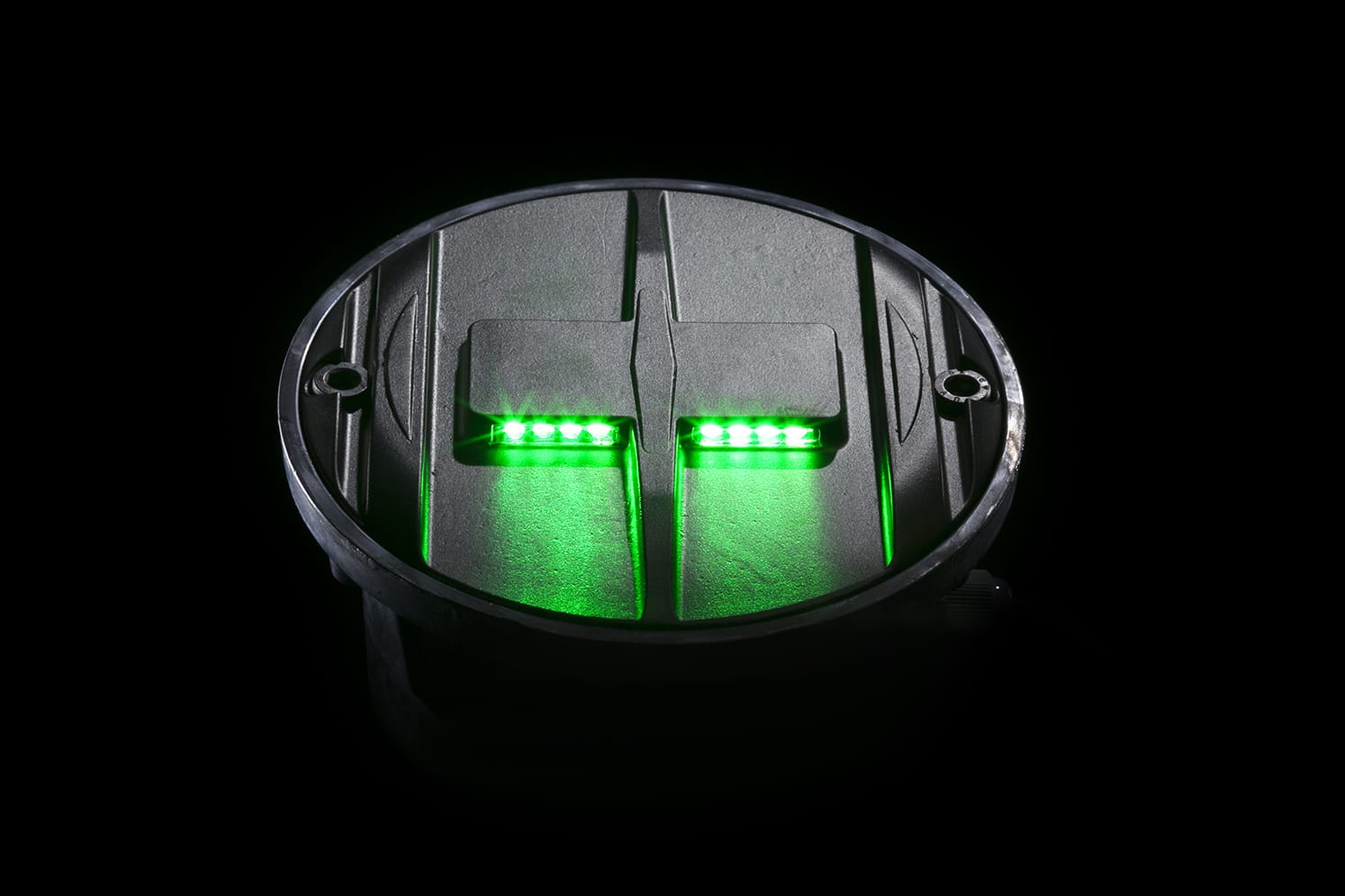 Plot LED pour route, plateaux surélevés, passage-piéton ECO-848 vert