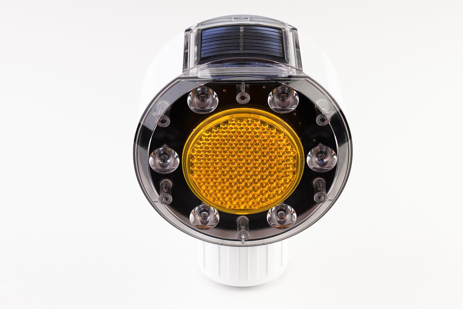 Feu solaire LED flash de signalisation routière : ECO-506