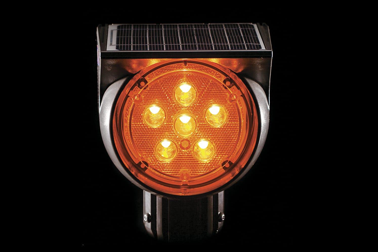 Feu signalisation solaire clignotant pour route ECO-512
