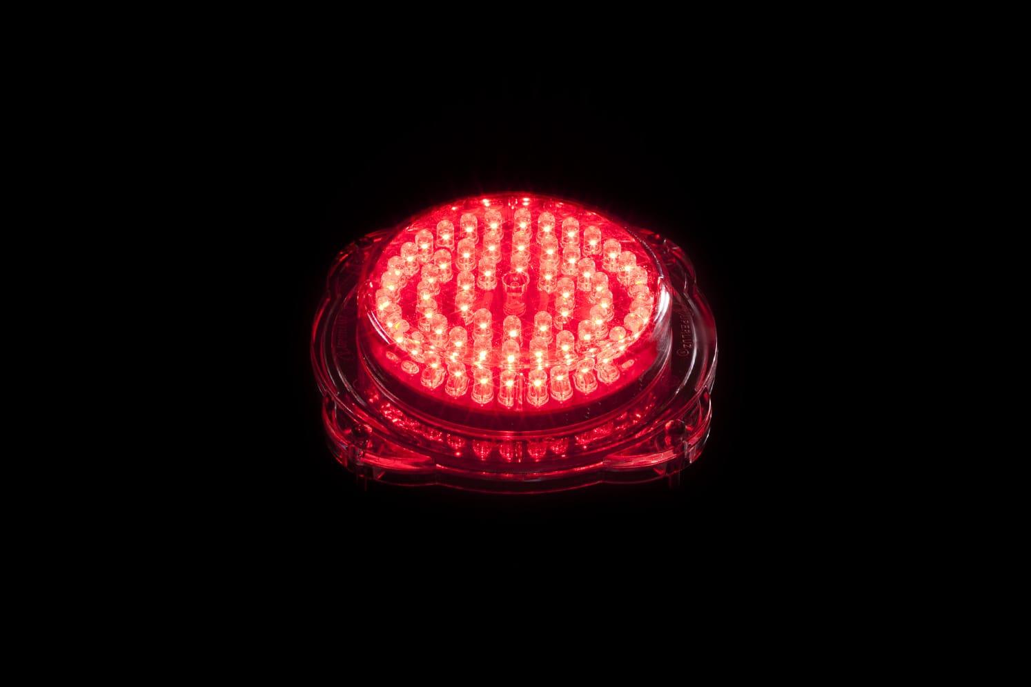 Signalisation LED verticale balise basse tension ECO-802 60 LED rouge