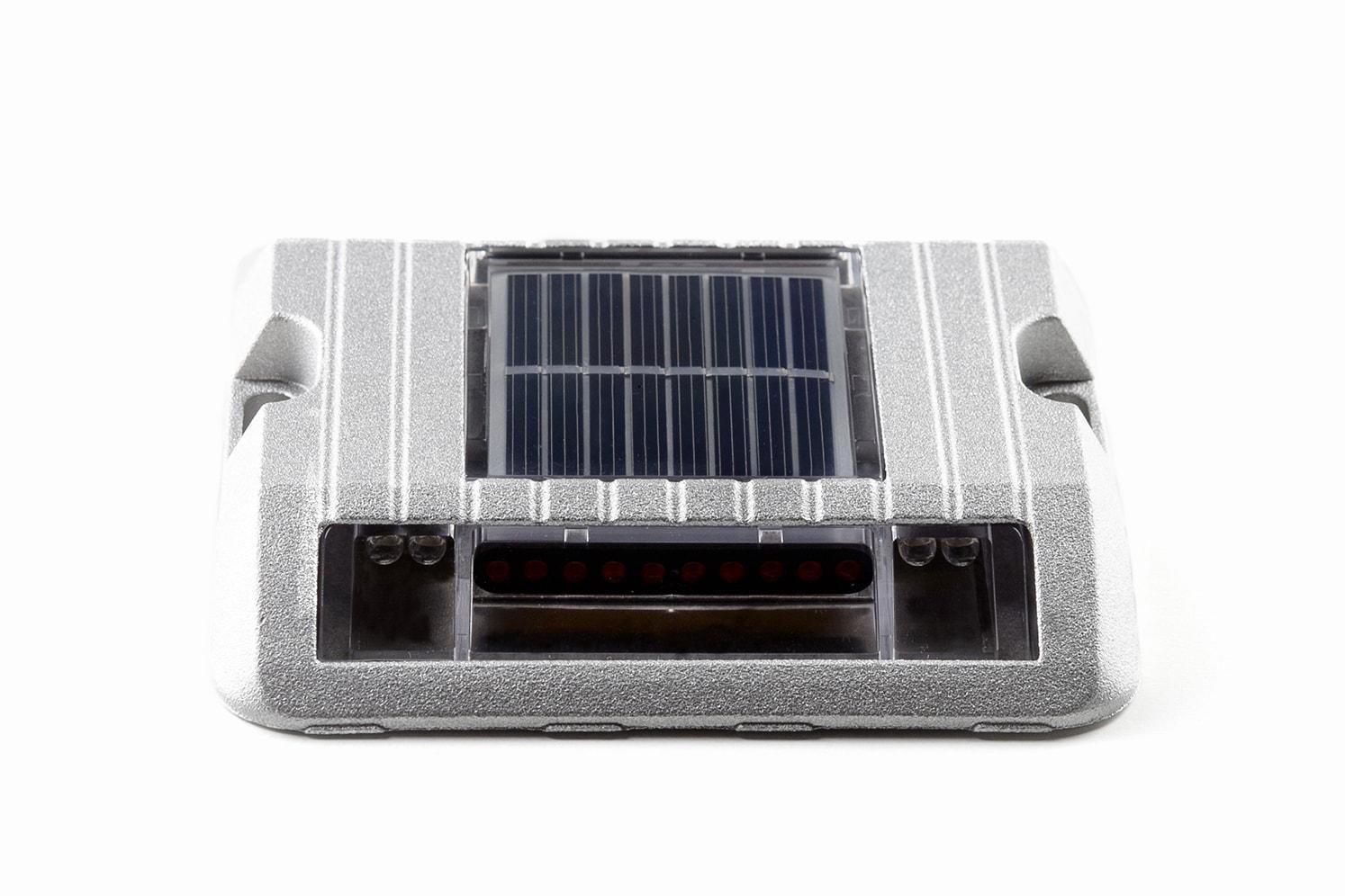 Balise solaire de sécurité pour bordure, îlot, giratoire ECO-118 jour