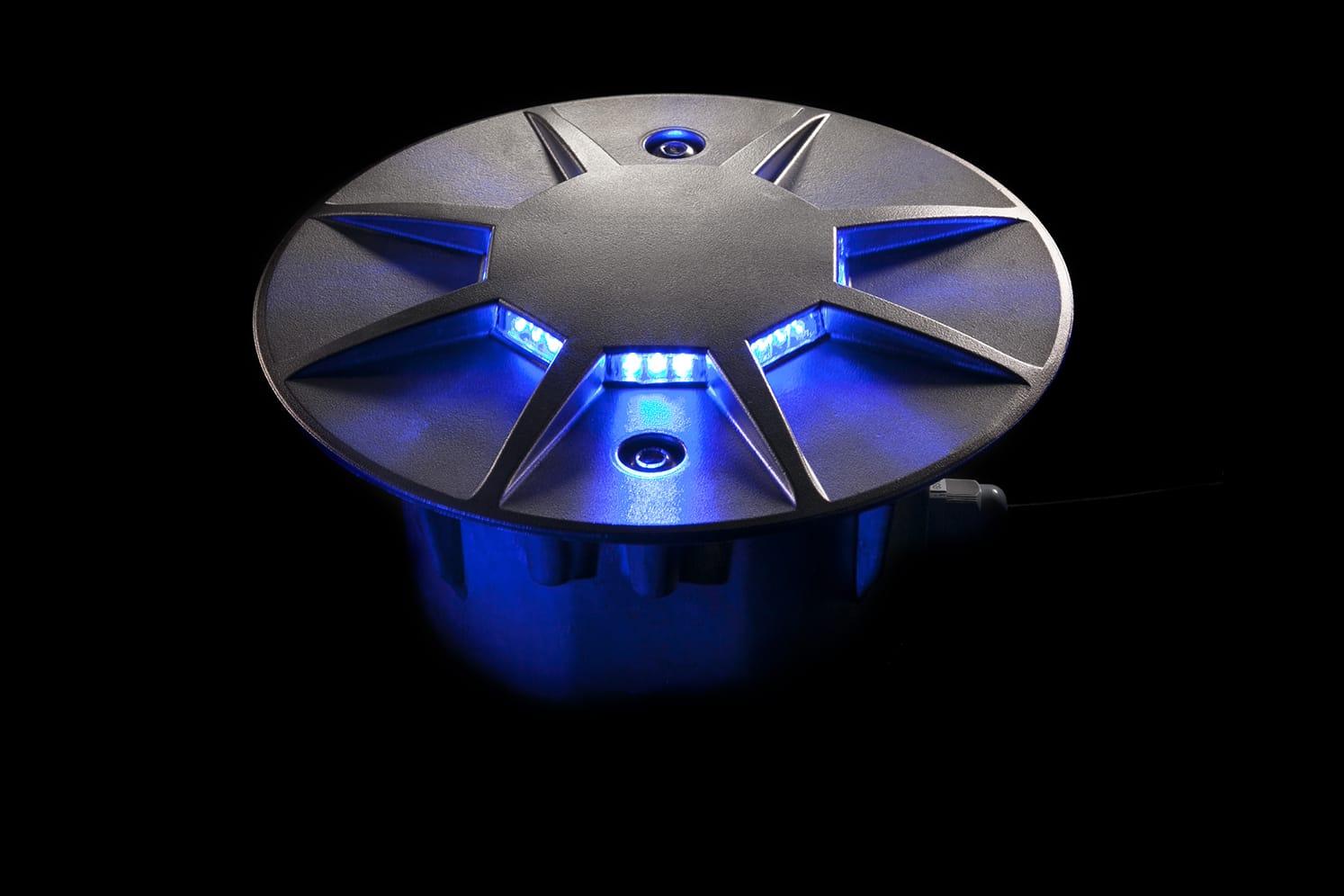 Plot routier LED 360º pour giratoire, parking, voirie ECO-870 bleu