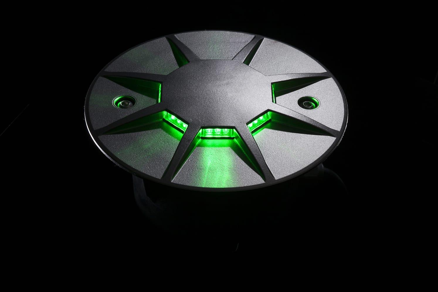 Plot routier LED 360º pour giratoire, parking, voirie ECO-870 vert