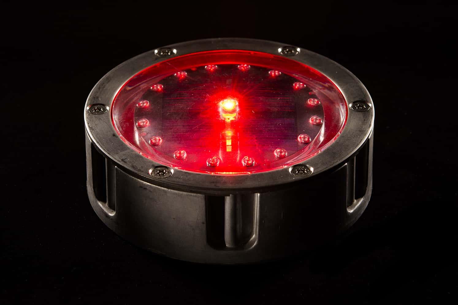 Plot solaire piste cyclable ECO-120 rouge