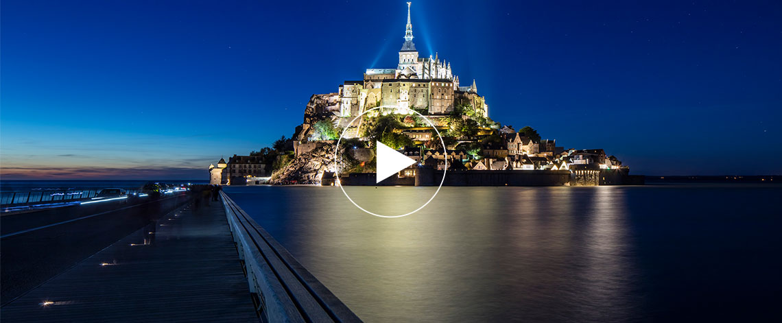 LED beaconing Mont-Saint Michel Bridge, ECO-845