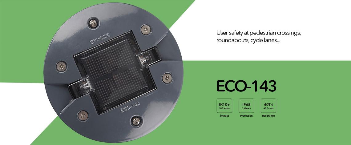 Road embedded solar stud, ECO-143